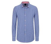Slim Fit Karo Hemd von Tom in Blau für Herren