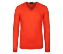 Pullover aus Merinowolle, Slim-Fit von Boss in Orange für Herren