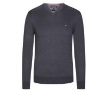 V-Neck Pullover von Tommy Hilfiger in Anthrazit für Herren