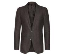 Hochwertiges Struktur-Sakko mit Perlmuttknöpfen von Tom Rusborg Premium in Braun für Herren