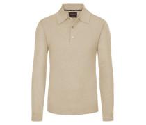 Pullover mit Polokragen aus 100% Kaschmir von Tom Rusborg Premium in Natur für Herren
