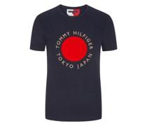 T-Shirt mit Frontprint  Marine