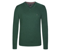 V-Neck Pullover, Cotton Cashmere von Tommy Hilfiger in Dunkelgruen für Herren