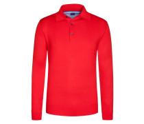 Poloshirt in reiner Baumwolle von Tom Rusborg in Rot für Herren