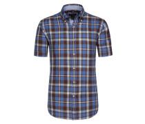 Button-Down-Hemd aus 100% Leinen von Tom Rusborg in Blau für Herren