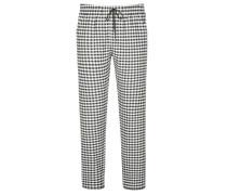 Karierte Pyjamahose von Novila in Anthrazit für Herren