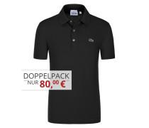 Poloshirt in Waffel-Pique Struktur, Slim Fit von Lacoste in Schwarz für Herren