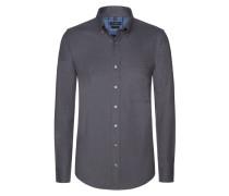 Aktuelles Flanellhemd aus 100% Baumwolle von Tom Rusborg in Anthrazit für Herren
