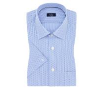 Edles Kurzarmhemd, gestreift und mit Muster von Van Laack in Blau für Herren