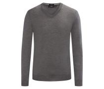 Pullover aus Merinowolle, Slim-Fit von Boss in Grau für Herren