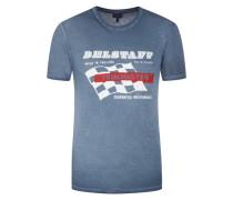 T-Shirt mit Racing-Motiv von Belstaff in Mittelblau für Herren