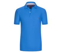 Premium Pique-Poloshirt, Regular-Fit von Tommy Hilfiger in Blau für Herren