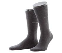 Socken mit Stretchanteil, Marc von Boss in Anthrazit für Herren