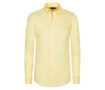Freizeithemd mit Button-Down-Kragen, Slim Fit von Polo Ralph Lauren in Gelb für Herren