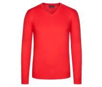 V-Neck Basic Pullover von Tom Rusborg in Rot für Herren