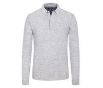 Pullover mit Polokragen, im Merino-Mix