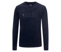 Sweatshirt mit Logo-Schriftzug von Woolrich in Marine für Herren