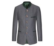 Zeitloser Trachtenjanker aus 100% Wolle, 'Leichtloden' von Lodenfrey in Grau für Herren
