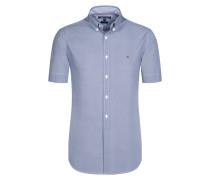 Modisch gemustertes Kurzarmhemd von Tommy Hilfiger in Blau für Herren