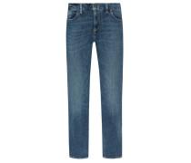 Superelastische Jeans mit Used-Effekten von Alberto in Blau für Herren