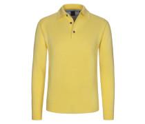Pullover mit Polokragen von Tom Rusborg in Gelb für Herren