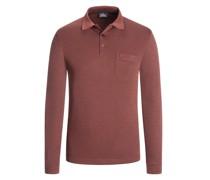 Sweatshirt mit Polokragen und Brusttasche  Rost