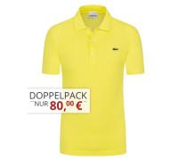 Poloshirt in Waffel-Pique Struktur, Slim Fit von Lacoste in Gelb für Herren