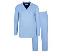 Pyjama von Novila in Hellblau für Herren