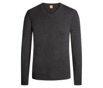 V-Pullover mit modischen Details von Boss Orange in Anthrazit für Herren