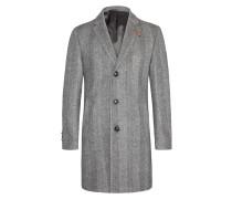 Feiner Fischgrät-Mantel im Wollmix von Baldessarini in Grau für Herren