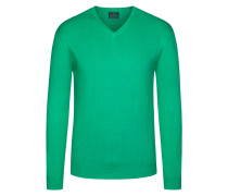 V-Neck Basic Pullover von Tom Rusborg in Gruen für Herren
