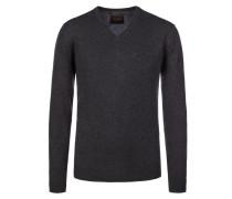 V-Neck Pullover aus 100% Kaschmir von Tom Rusborg Premium in Anthrazit für Herren