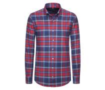 Sportives Flanellhemd von Tom Rusborg in Rot für Herren