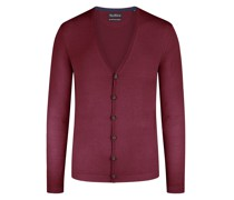 Cardigan, Slim Fit  Bordeaux