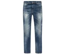 Lässige Slim Fit Jeans im Used-Look, Ronnie von Seven For All Mankind in Denim für Herren