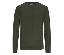 Pullover im Baumwollmix  Oliv