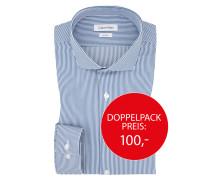Businesshemd mit gestreiftem Muster von Calvin Klein in Marine für Herren