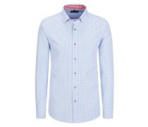 Trachtenhemd Regular Fit von Tom Rusborg in Hellblau für Herren