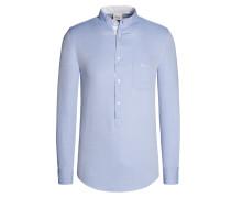 Trachtenhemd, modisches Muster von Luis Trenker in Hellblau für Herren