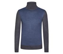 Weicher Pullover mit Pepita-Muster von Tom Rusborg in Anthrazit für Herren