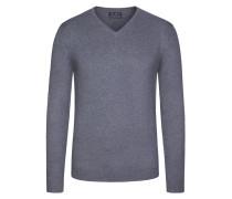 V-Neck Basic Pullover von Tom Rusborg in Anthrazit für Herren