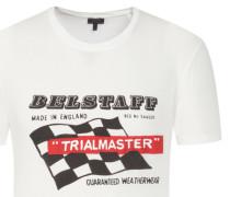 T-Shirt mit Racing-Motiv von Belstaff in Weiss für Herren