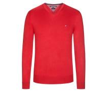 V-Neck Pullover von Tommy Hilfiger in Rot für Herren
