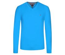 V-Neck Pullover, Cotton Cashmere von Tommy Hilfiger in M.blau für Herren