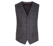 Hochwertige Weste aus 100% Schurwolle, Harris Tweed von Tom Rusborg in Anthrazit für Herren