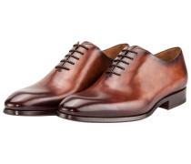 Klassischer Oxford-Businessschuh, Whole Cut von Magnanni in Cognac für Herren
