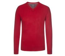 Merino/Kaschmir V-Neck Pullover von Tom Rusborg in Rot für Herren