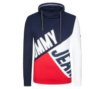 Colourblock Sweatshirt mit Schornsteinkragen von Tommy Jeans in Rot für Herren