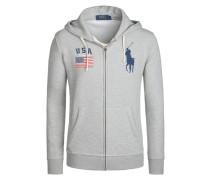 Bequeme Sweatjacke mit Kapuze von Polo Ralph Lauren in Grau für Herren