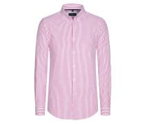 Freizeithemd, gestreift von Tom Rusborg in Pink für Herren